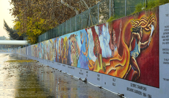 The great wall of los angeles the history and art of the for Mural history